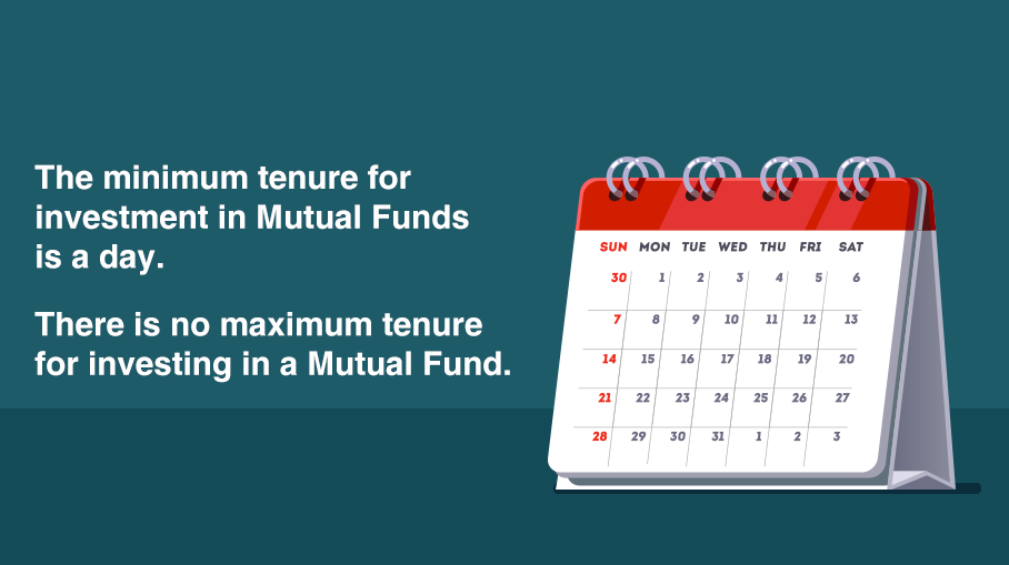 What is the minimum and maximum tenure that I can invest in Mutual Funds?