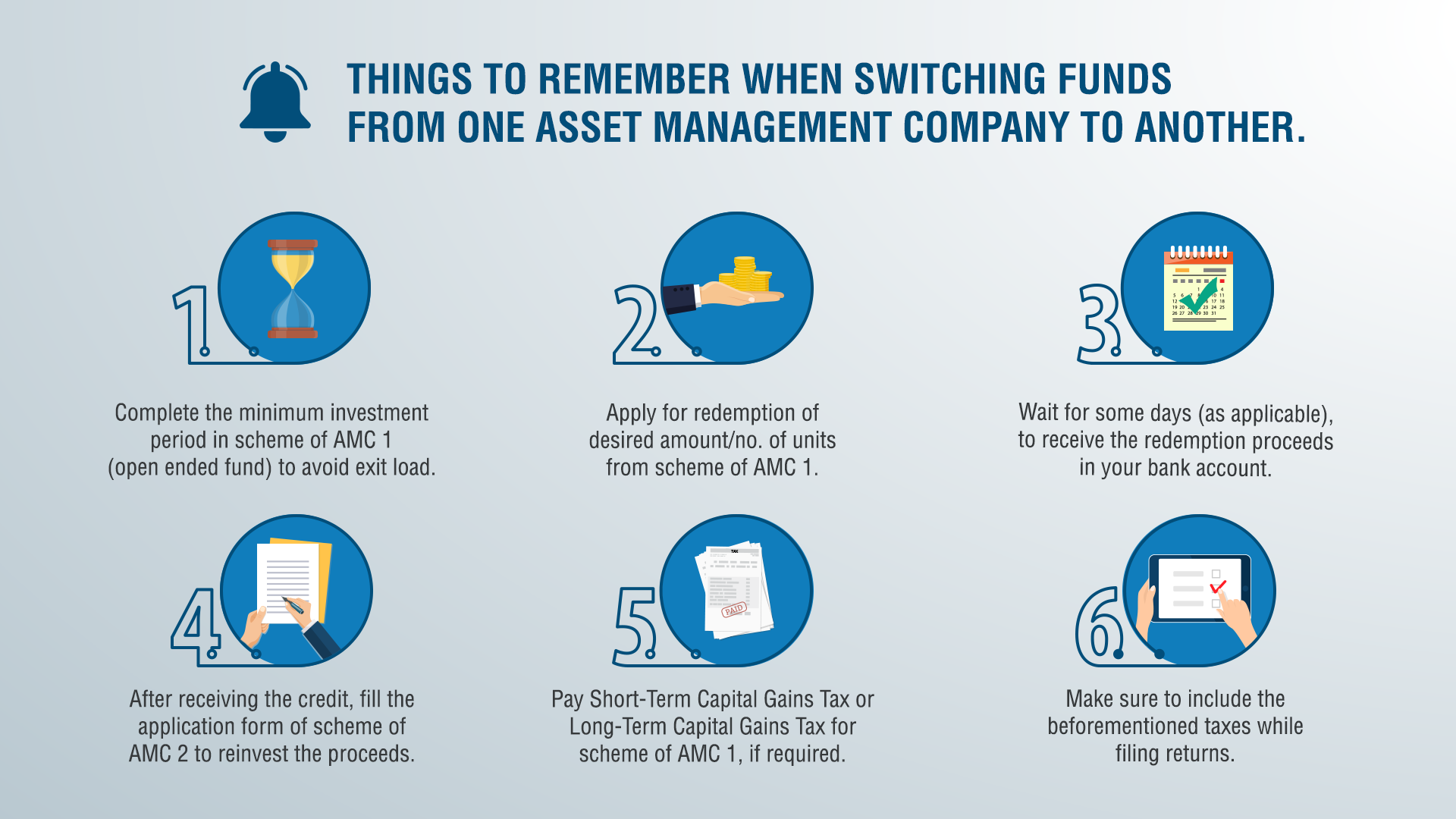How do I switch from one fund to a fund of another company?