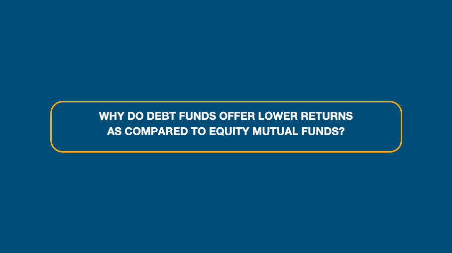 Why do Fixed Income Funds offer lower returns as compared to Equity Mutual Funds?