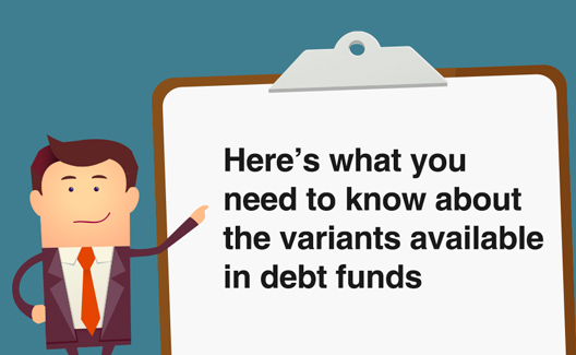 What are the various type of debt funds?