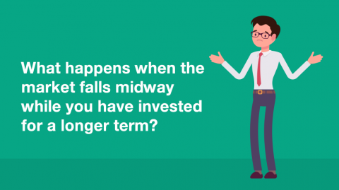 What happens when the market falls midway while you have invested for a longer term?